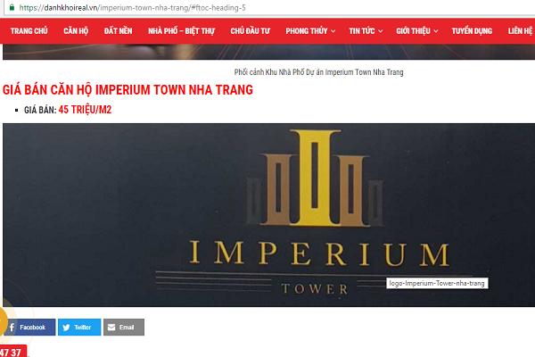 Khánh Hòa cấm mọi giao dịch mua bán dự án Imperium Town - Ảnh 3.