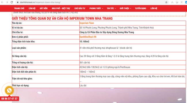 Khánh Hòa cấm mọi giao dịch mua bán dự án Imperium Town - Ảnh 2.