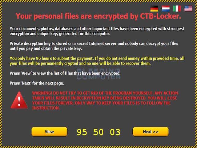 Cảnh báo mã độc mã hóa dữ liệu đòi tiền chuộc tại Việt Nam