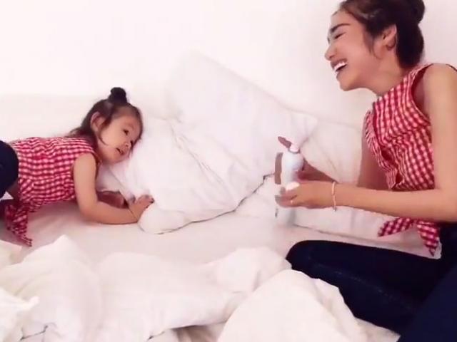 Elly Trần thử phản ứng của con gái khi mẹ gặp nguy hiểm