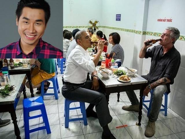 Sao Việt thích thú với ảnh Obama ăn bún chả Hà Nội