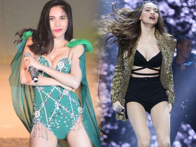 22 bộ đồ diễn ngắn như áo bơi của mỹ nữ showbiz Việt