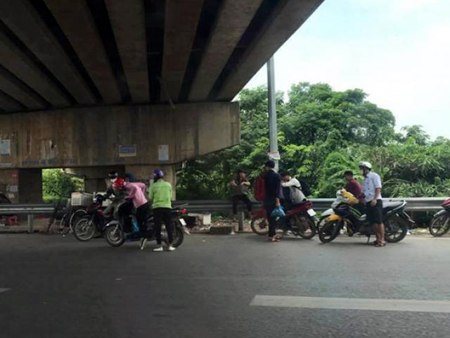 """Đinh tặc """"hạ gục"""" hàng loạt xe máy trên cao tốc Bắc Giang - Hà Nội"""