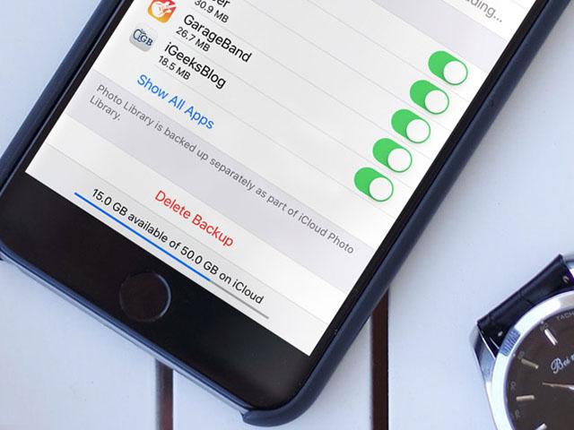 Xóa dữ liệu sao lưu iCloud trên iPhone cũ để giải phóng không gian