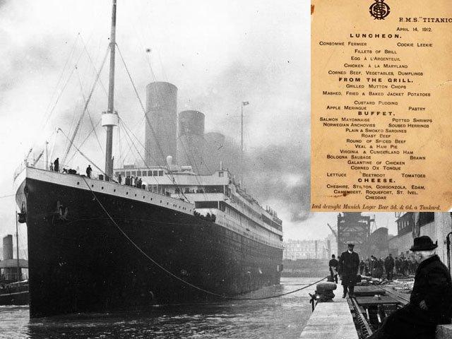 Bí ẩn đằng sau thực đơn cuối cùng trên tàu Titanic giá 2 tỷ