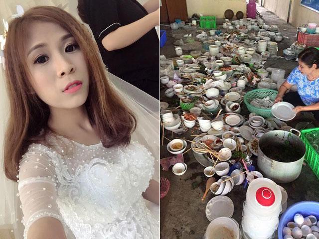 Sự thật sau bức ảnh nàng dâu phải rửa 100 mâm bát đũa