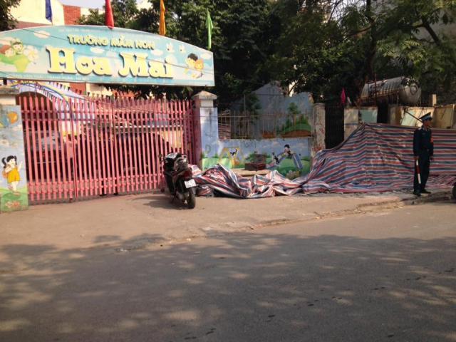 HN: Sập tường cạnh trường mầm non, một người tử vong