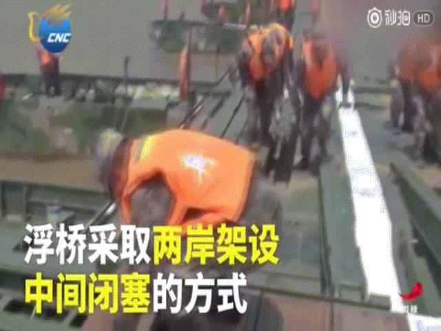 Video: Binh sĩ TQ xây cầu dài hơn 1.000 mét trong 27 phút