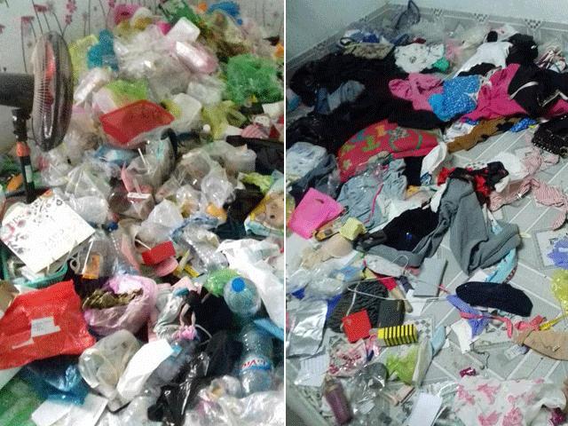 Kinh hoàng phòng trọ bẩn như bãi rác của cô gái Cần Thơ