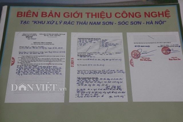 Nhóm Kim Cương Việt đã tiến hành thực nghiệm xử lý rác thải dân sinh tại Khu xử lý rác thải Nam Sơn (Sóc Sơn, Hà Nội). Ảnh biên bản thực nghiệm- Đăng Trình.