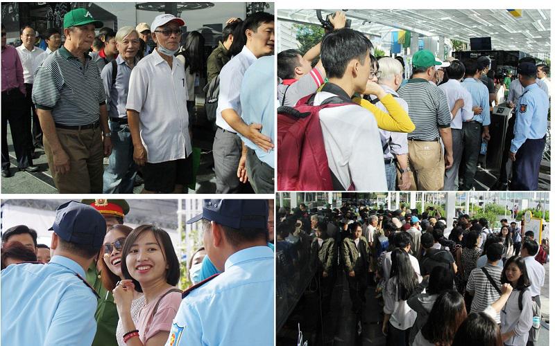 Trong ngày khai trương, người Sài Gòn háo hức đến để đi thử nghiệm