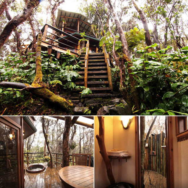 Ngôi nhà ở Kilauea Volcano, Hawaii.