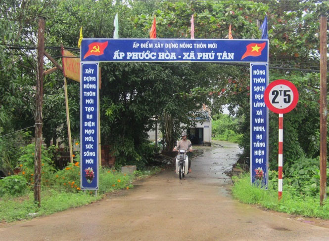 Diện mạo nông thôn ấp Phước Hòa đang khởi sắc, góp phần để Phú Tân (Châu Thành) đạt chuẩn xã nông thôn mới.