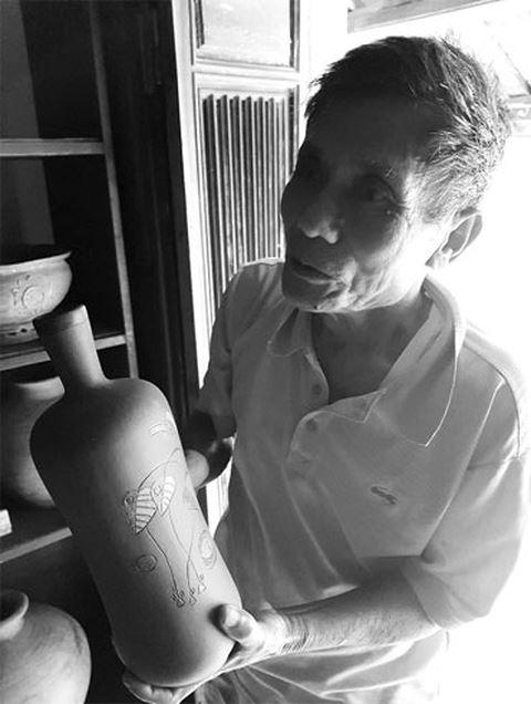 Ông Lê Trọng Diễn, người sở hữu kho tàng gốm cổ Phước Tích.