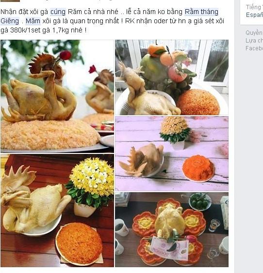 Các sản phẩm đẹp mắt vào dịp Tết Nguyên tiêu được quảng bá trên mạng xã hội. Ảnh: Lâm Anh