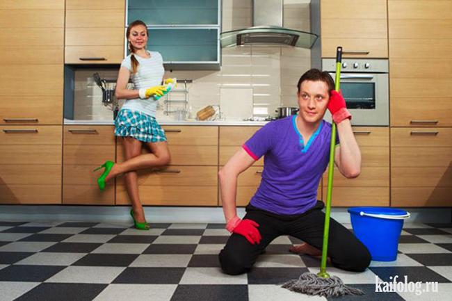 Làm việc nhà chỉ là chuyện nhỏ như con thỏ.