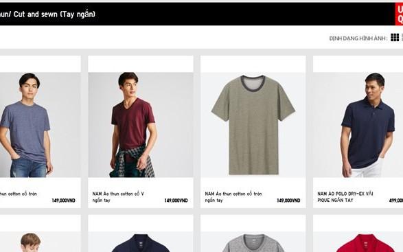 Chưa ra mắt cửa hàng, Uniqlo đã niêm yết giá bằng VND trên trang chủ