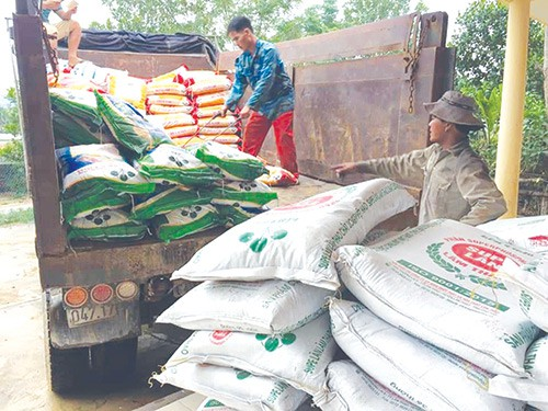 Hỗ trợ nông dân Hà Tĩnh mua hơn 3.500 tấn phân Lâm Thao chậm trả - Ảnh 1.