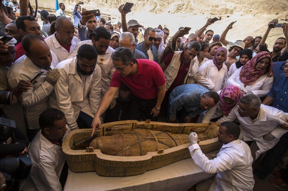 Xác ướp được bảo quản hoàn hảo 3.000 năm. Ảnh: AFP