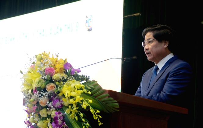 Thứ trưởng Lê Quốc Doanh phát biểu khai mạc hội thảo.