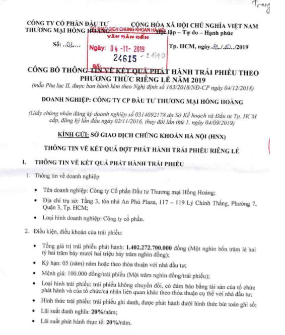 Lãi vay gấp 56 lần vốn điều lệ, Công ty Hồng Hoàng liên quan thế nào đến ACB của Trần Hùng Huy? - Ảnh 1.