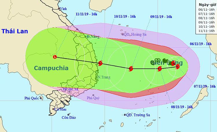 Nakri có thể là bão mạnh nhất từ đầu năm ở Biển Đông - Ảnh 1.
