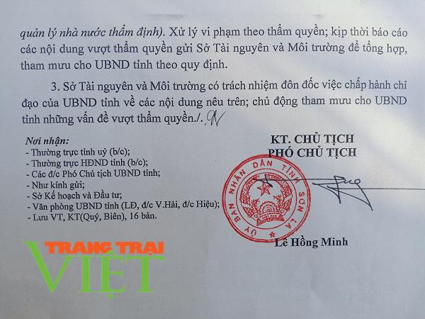 Xung quanh sai phạm của Công ty CPVLXD Sông Mã: UBND tỉnh Sơn La tiếp tục ra văn bản đình chỉ hoạt động  - Ảnh 5.