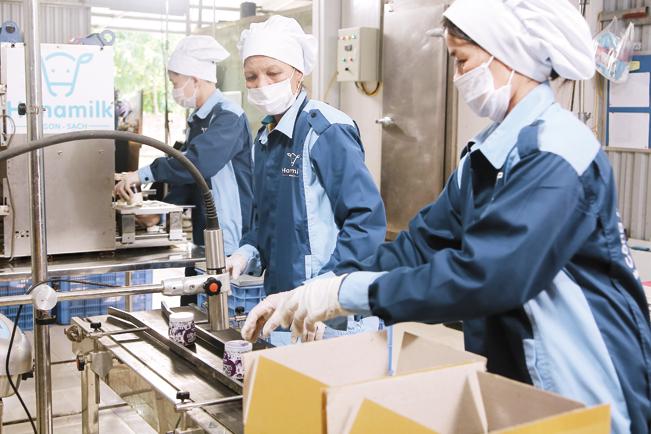 Dây chuyền sản xuất hiện đại của Hanamilk.