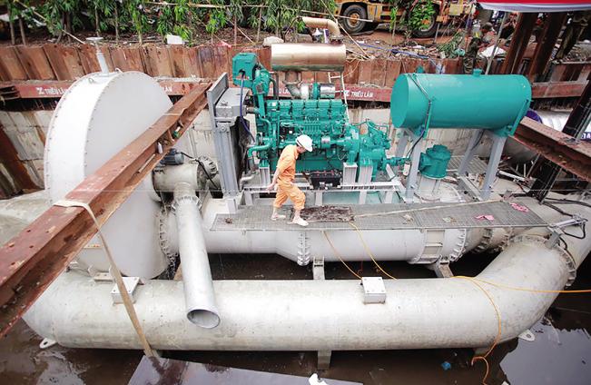 Cầu treo Nà Chạp, xã Quang Thuận, huyện Bạch Thông (tỉnh Bắc Kạn) do Công ty CP tập đoàn Quang Trung thi công.