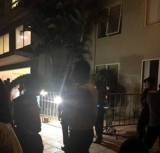 Hiện trường vụ tai nạn thương tâm ở Khu nhà ở xã hội Ecohome 1 (Ảnh: CTV)