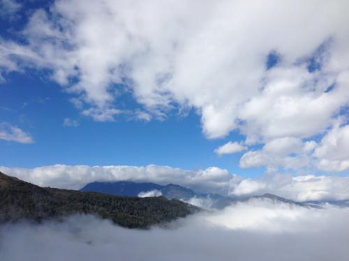 Khung cảnh hùng vĩ nhìn từ homestay Y Tý Clouds.