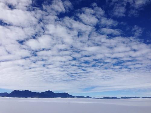 Biển mây Y Tý nhìn từ đỉnh Ngải Thầu Thượng.