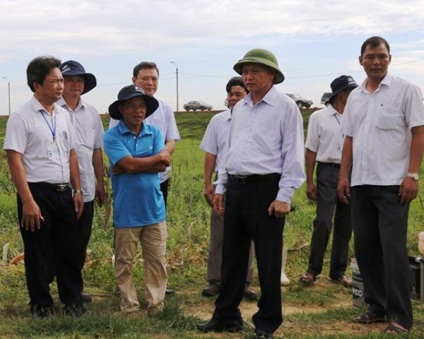 Ông Nguyễn Đức Quyền - Phó Chủ tịch Thường trực UBND tỉnh Thanh Hóa kiểm tra chương trình phát triển nông nghiệp và xây dựng nông thôn mới của TP. Thanh Hóa.