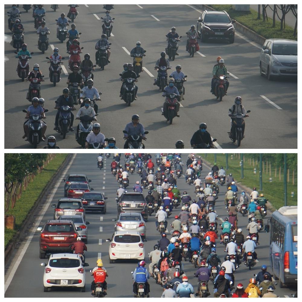 Hỗn loạn tình trạng đường ô tô trở thành đường chung của xe máy.