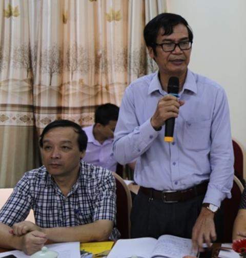Ông Trần Đức Năng - Phó Chánh văn phòng điều phối NTM Thanh Hóa phát biểu tại buổi làm việc.