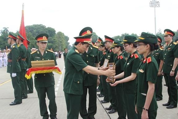 Cán bộ, học viên Học viện Quân y (Ảnh: Học viên Quân y)