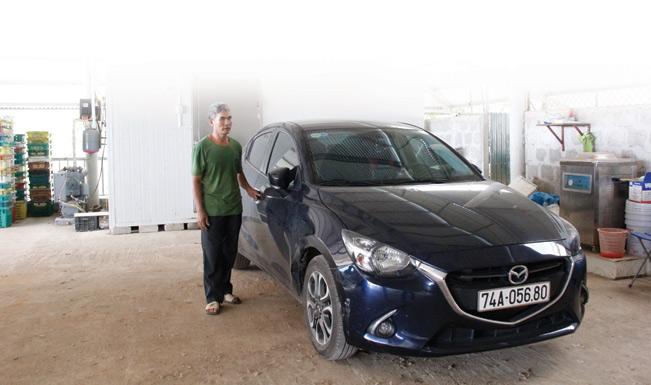 Nhờ làm ăn hiệu quả, ông Vũ Thắng đã mua được xe ô tô.