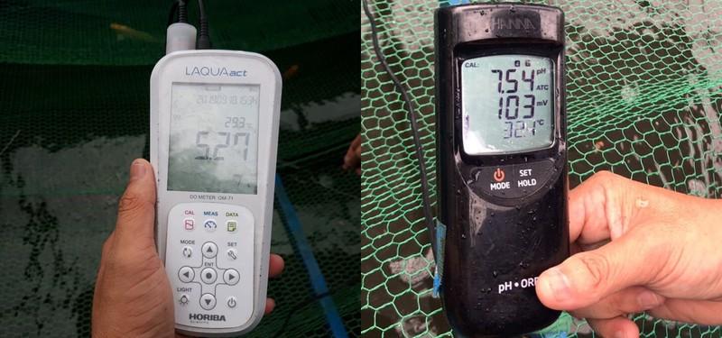 Các kết quả đo chất lượng nước chiều 18/9.