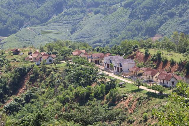 Khu tái định cư Nước Vương được xây dựng ở khu vực sạt lở.