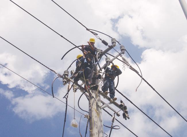 Nhân viên điện lực TP.HCM đưa điện về Bình Chánh.