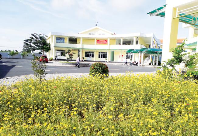 Một ngôi trường mầm non được đầu tư mới tại xã Hiệp Phước (Nhà Bè).