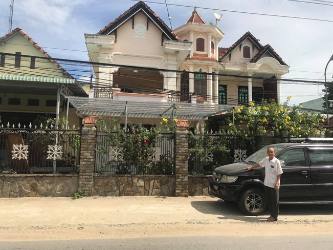 Cơ ngơi bạc tỷ của lão nông Phạm Ngọc Thành, ở thôn Hòa Thạch, xã Đại Quang, Đại Lộc, Quảng Nam.