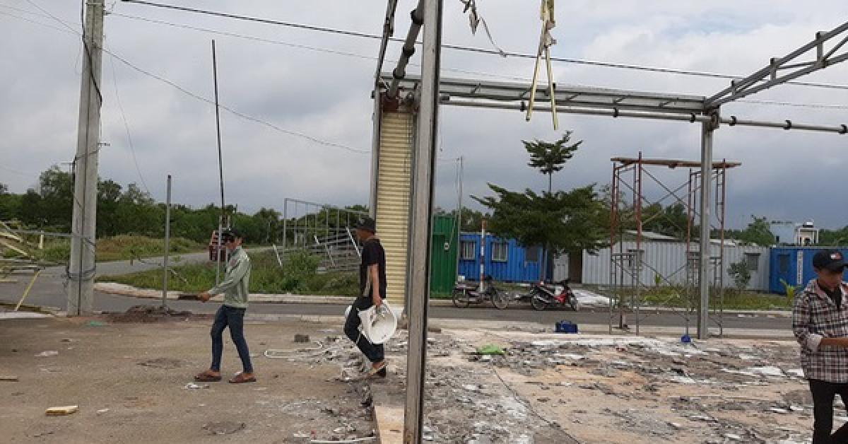 Nơi đây từng được xem là một văn phòng của Công ty Alibaba tại tỉnh Đồng Nai (ảnh chụp vào trưa 19/9)Ảnh: Xuân Hoàng