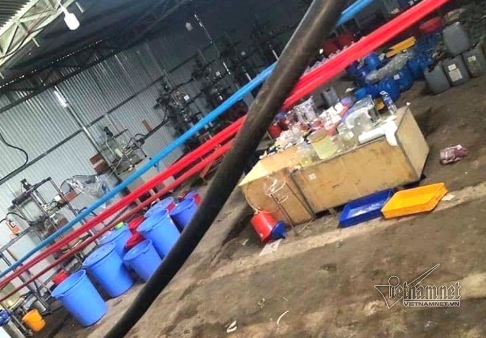 Bên trong khu vực sản xuất ma túy đặt tại huyện Đắk Hà (Kon Tum).