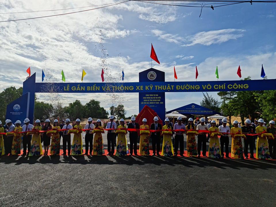 Quảng Nam: Thông xe kỹ thuật tuyến đường vào sân bay Chu Lai với vốn đầu tư 1.479 tỷ đồng - Ảnh 2.