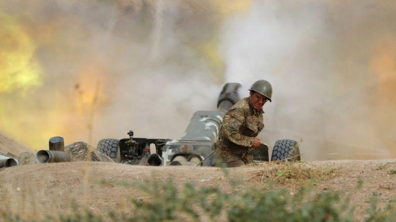 Chiến sự Armenia-Azerbaijan: Nga tiết lộ lính đánh thuê nước ngoài đang dồn đến vùng chiến - Ảnh 1.
