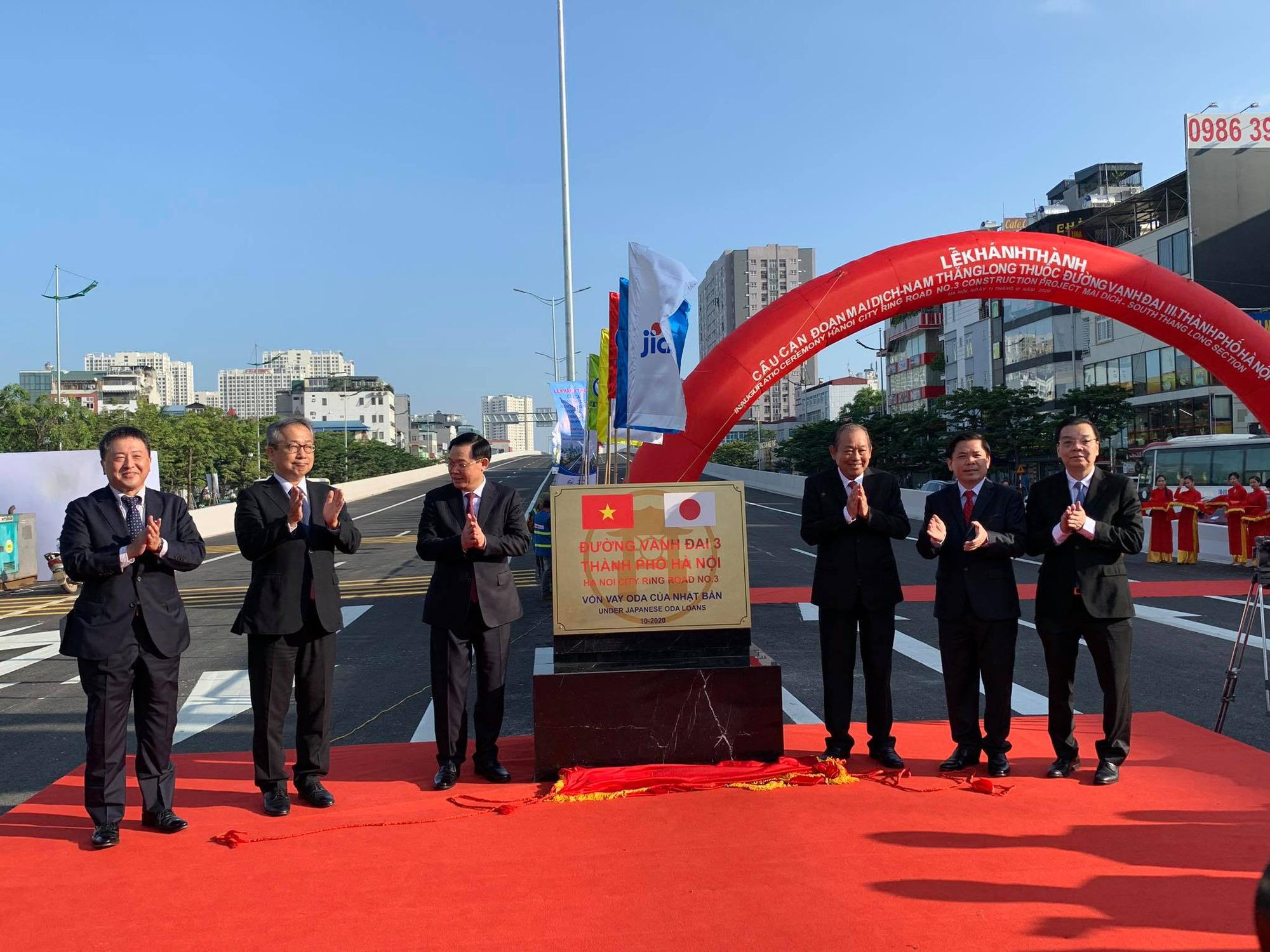 Chính thức thông xe đường vành đai 3 đoạn Mai Dịch - Nam Thăng Long - Ảnh 1.