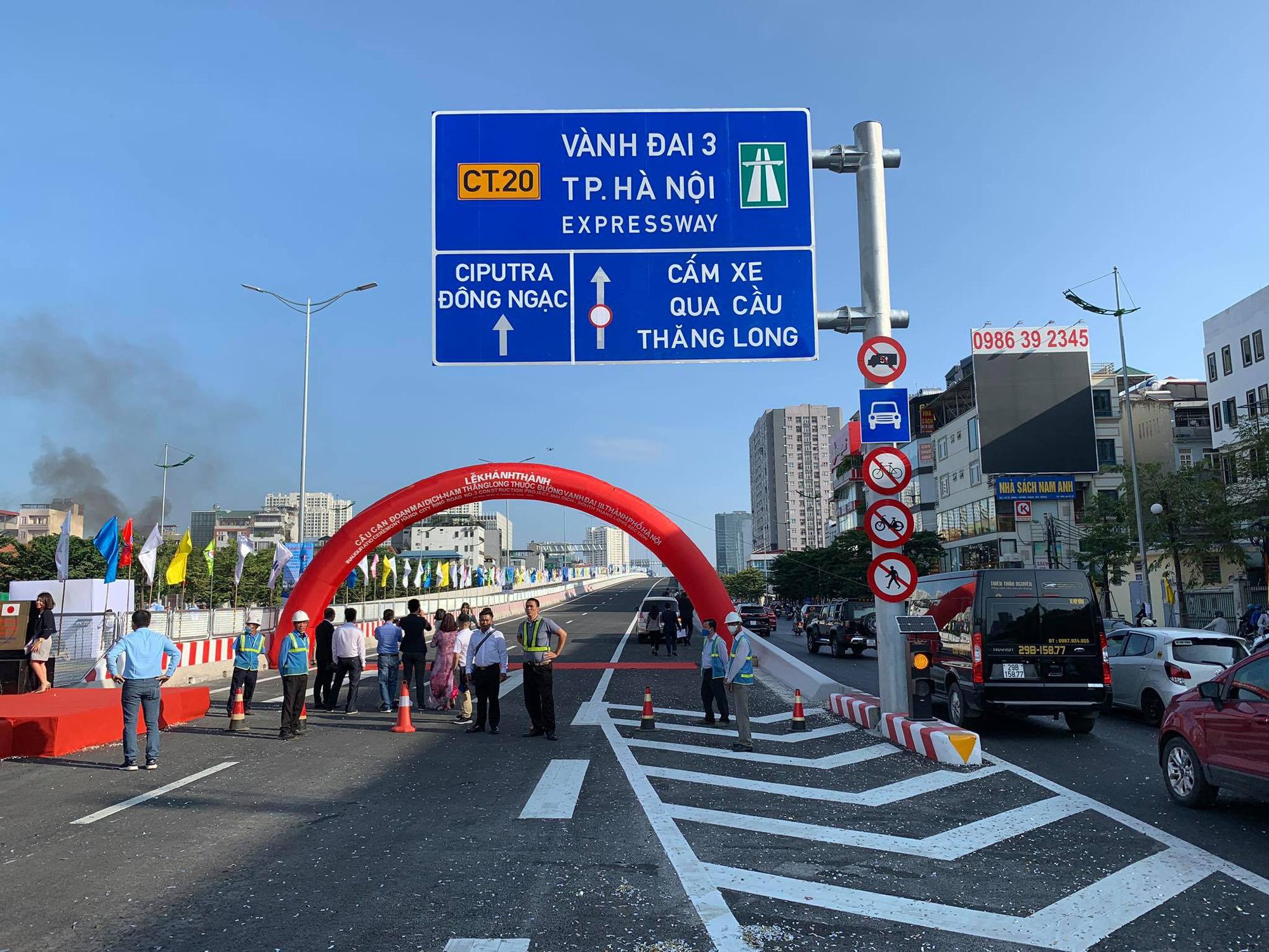 Chính thức thông xe đường vành đai 3 đoạn Mai Dịch - Nam Thăng Long - Ảnh 3.