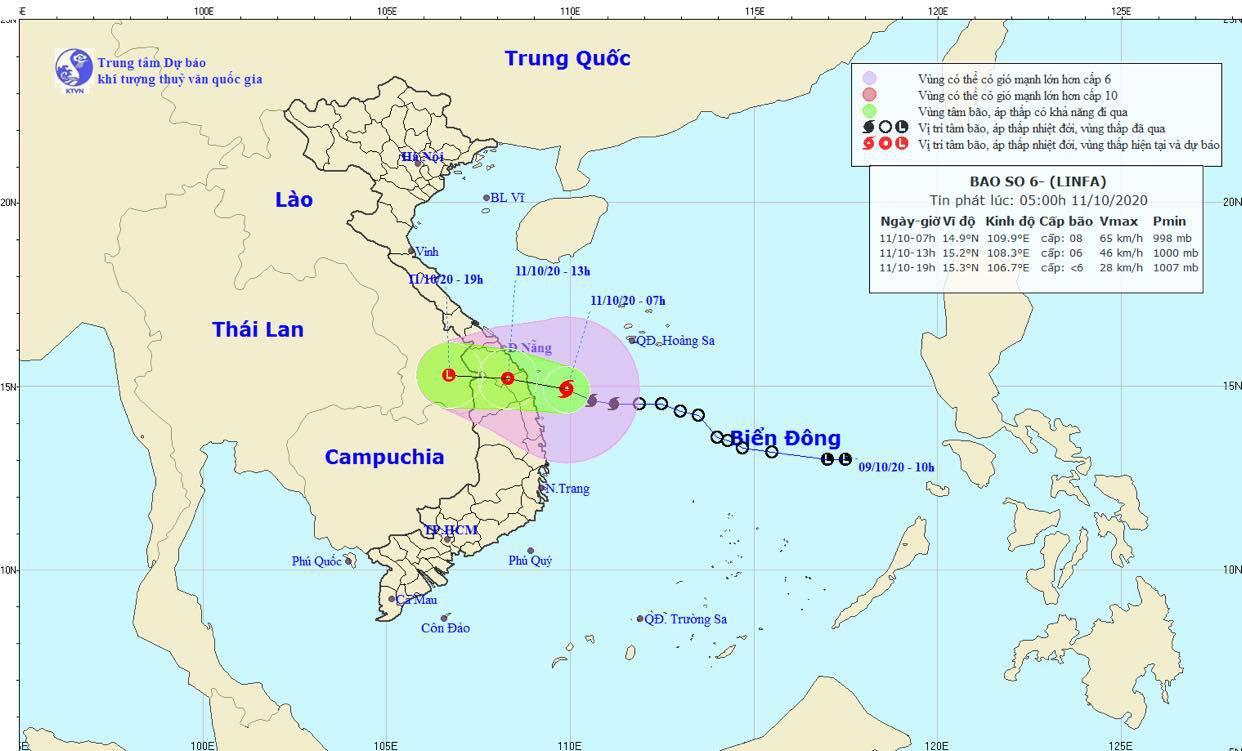 Khẩn cấp: Bão số 6 đã tiến sát vùng biển Quảng Nam - Bình Định, đổ bộ đất liền trong hôm nay  - Ảnh 1.