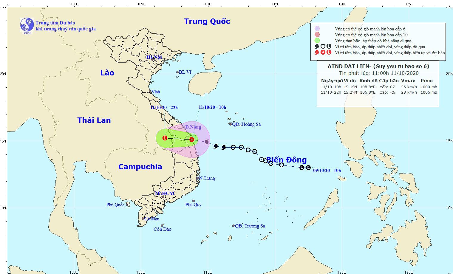 Bão số 6 suy yếu thành áp thấp nhiệt đới, Thừa Thiên - Huế, Quảng Nam chưa hết lụt lại phải hứng mưa lớn - Ảnh 1.